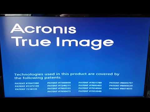 Acronis True Image 2017 Recovering System With Boot UP Disc