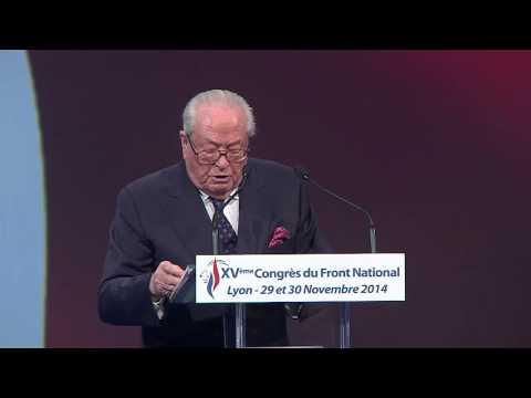 XVème Congrès du Front National à Lyon : intervention de Jean-Marie Le Pen