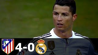 Atletico Madrid vs Real Madrid 4-0 All Goals and Highlights with English Commentary 2014-15 HD 720p