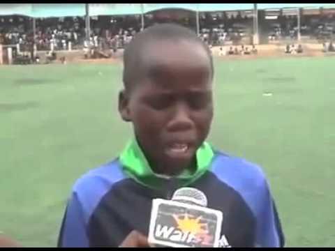 African kid imitates an Arab commentator, Amazing!