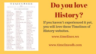 History Timeline - history of the entire world