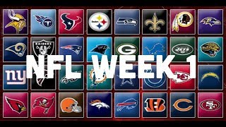 NFL Week 1 Picks & Predictions (2018 - 2019)