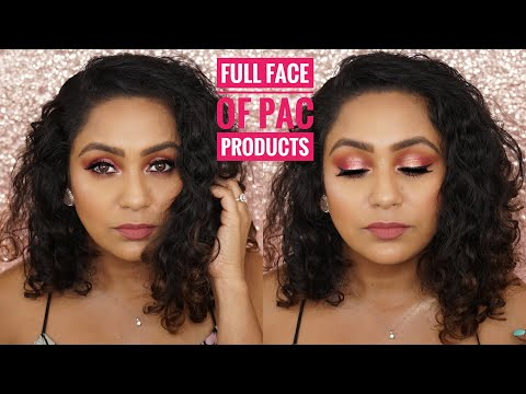 ROSEGOLD MAKEUP LOOK l FULL FACE OF PAC PRODUCTS ON BROWN SKIN l MONOCHROMATIC MAUVE MAKEUP