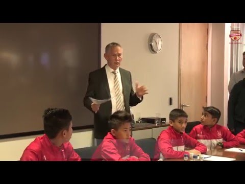 Richard Scudamore addresses RF Young Champs at Premier League Headquarters