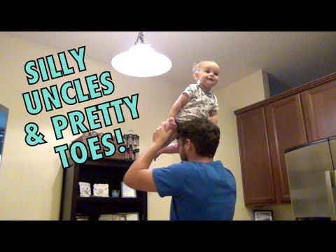 Silly Uncles & Pretty Toes    LoraAndLayton
