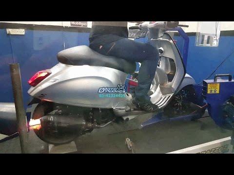 Vespa Sport 150 Polini Racing ECU Dyno Tuning - Motodynamics Technology Malaysia