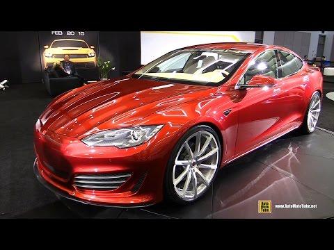 2015 Tesla Model S Saleen 416 FourSixTeen - Exterior and Interior Walkaround - 2014 LA Auto Show