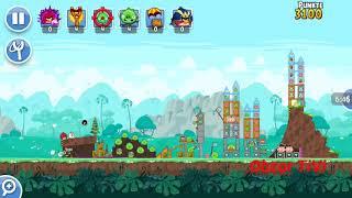 Obzor TiVi:  Прохождение уровней Angry Birds Friends от 18 февраля 2019