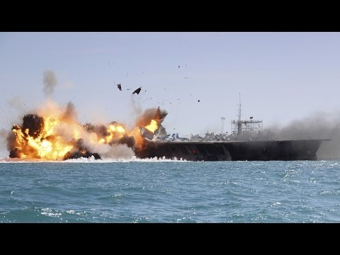 Iran Navy successfully test-fires Nour cruise missile - Iran flies drone over US aircraft carrier