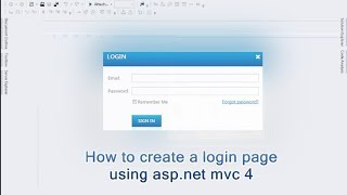 How to create a login page using asp.net mvc 4