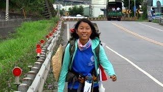 獨自徒步環島的女大生