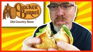 Cracker Barrel Fried Chicken Tenderloin on Sourdough Bread Review