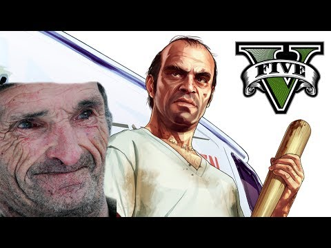 Gta 5 - Naked Old Men video