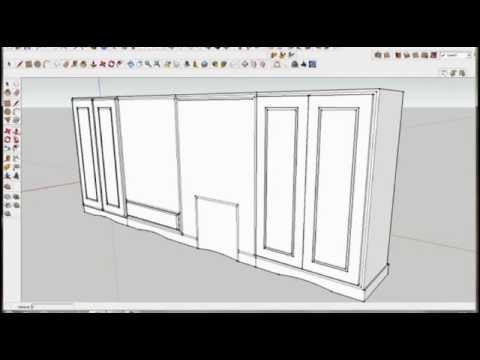 Google sketchup pro 8. furniture design. part 1. by rahgsa0509
