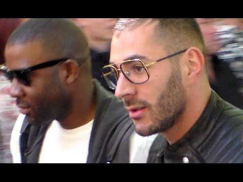 Karim BENZEMA @ Paris Fashion Week 27 juin 2015 défilé Balmain