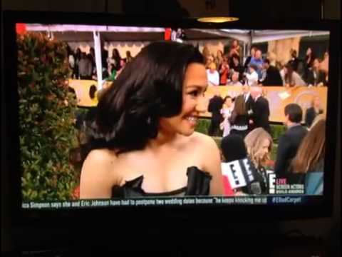 Naya Rivera and Mark Salling at SAG awards 2013