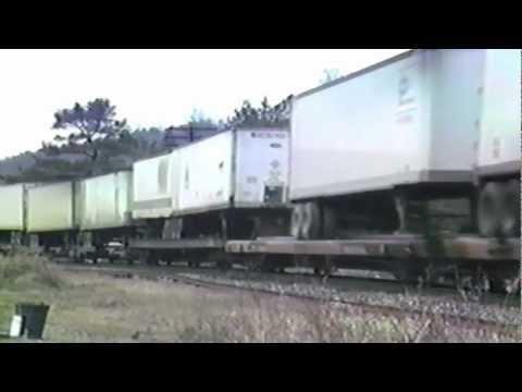 LMX 8539 south at Dora, Alabama 1980's BN Birmingham Line