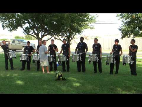 The Blue Knights Snare Line Warning Up - DCI San Antonio 2010