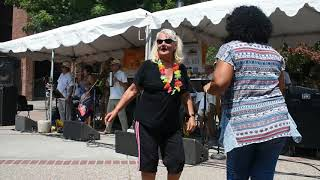Mary Dances With Latin Touch Band At The Woodland Tomato Festival