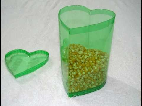 Caja en forma de corazón hecha con botellas de PET - vídeo completo  - Trabajos manuales