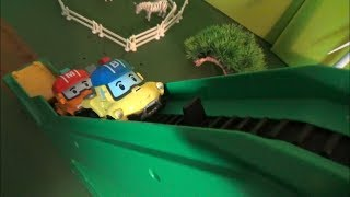 Robocar Poli Escalate Toys Play 로보카폴리 에스컬레이트 장난감 놀이