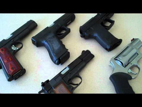 FIREARMS (PISTOLS):  My top five choices...