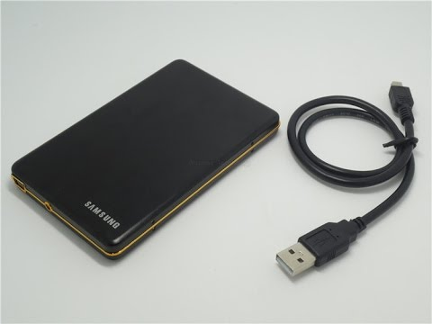 Samsung External Hard Drive 160G - UNBOXING