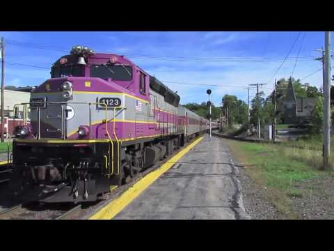 MBTA Trains in Ayer & Shirley MA. (Loco 1001!)