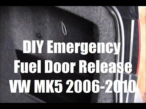Emergency Manual Fuel Door Release VW Jetta Golf Passat MK5 MKV 2006 - 2010