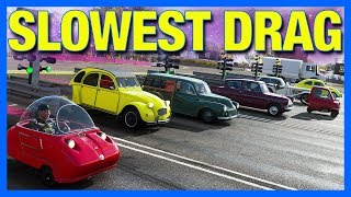 Forza Horizon 4 Online : The Slowest Drag Race In The World!!