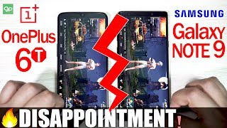 OnePlus 6T vs Galaxy Note9 - Speed Test! (DISAPPOINTING END!🔥🔥🔥)