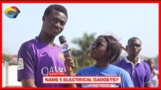 Name 5 Electrical Gadgets | Street Quiz | Funny Videos | Funny African Videos | African Comedy |
