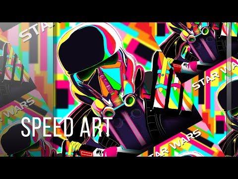 Star Wars Pop Art Death Trooper Speed Art