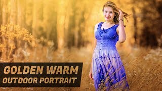 Golden Warm Glow Outdoor Portrait Photoshop Tutorial [Warm Photo Editing]
