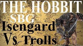 The Hobbit Strategy Battle Game SBG Battle Report Isengard V Trolls