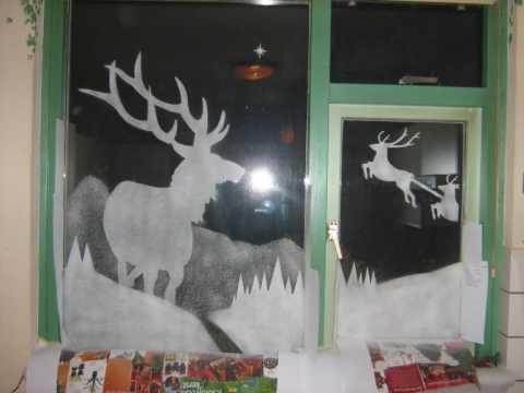 Kerst decoratie op je raam youtube for Takken decoratie voor het raam