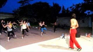 Zumba ® fitness class with Lauren- pegate mas