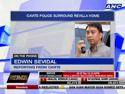 Cavite police surround Revilla home