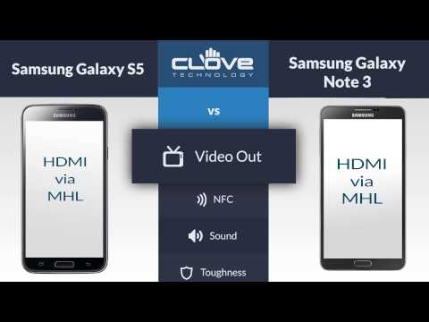 Samsung Galaxy S5 VS Samsung Galaxy Note 3 Comparison