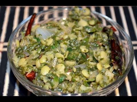 Palakoora curry (Spinach Stir Fry) Palak curry - Indian Vegetarian Recipe