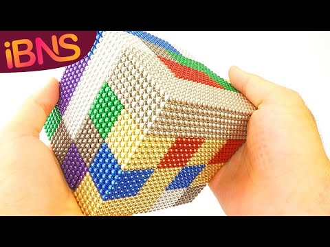 Playing with 10000 mini magnetic balls! Oddly Satisfying, ASMR  10000 buckyballs!