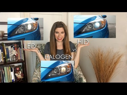 LED Vs HID (XENON) Vs HALOGEN - HEADLIGHTS COMPARED!