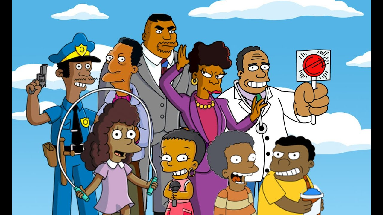Simpson Black Character Black Simpsons Characters