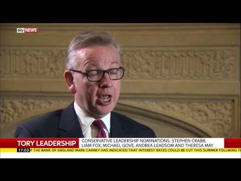 Michael Gove Explains Why He's Standing For Conservative Leadership
