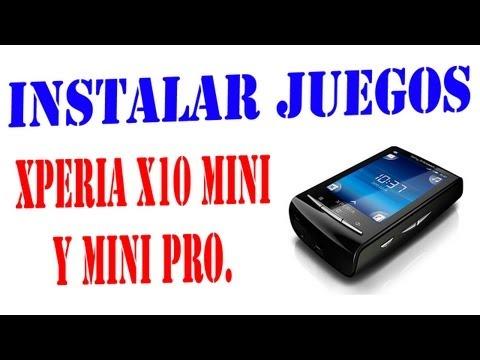 Instalar juegos a Xperia x10 mini y mini pro.