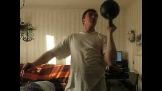 press kettlebell bottom up 7 reps 32 kg