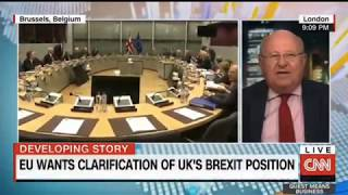 Mike Gapes discusses Brexit negotiations with CNN's Richard Quest