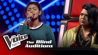Tharushi Taliya | Kameliya Mal  Blind Auditions | The Voice Teens Sri Lanka