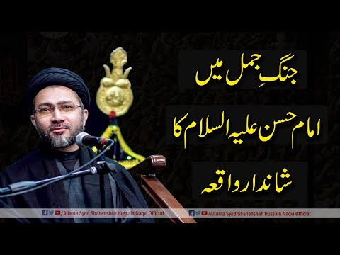 Jhan-e-Jamal me Imam Hassan a.s ka Shandar waqia by Allama Syed Shahenshah Hussain