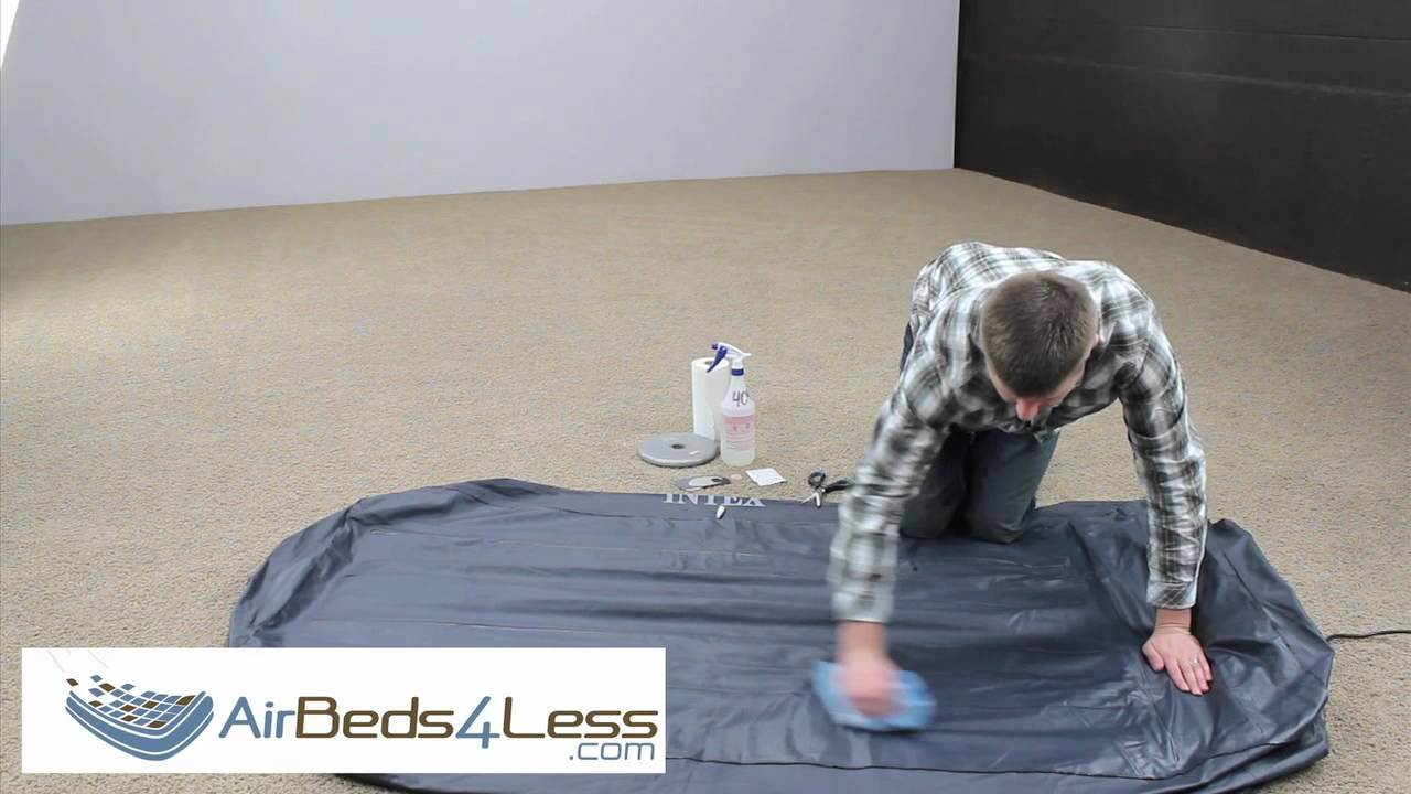 how to find a leak and patch an air bed mattress correctly youtube. Black Bedroom Furniture Sets. Home Design Ideas